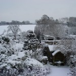 Cottage Garden in Snow